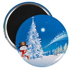 Snowman Christmas Magnet