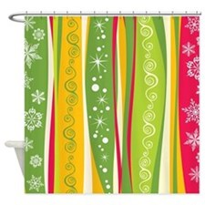 Retro Christmas Shower Curtain