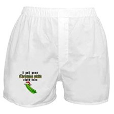 Christmas Pickle Boxer Shorts