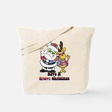 Groovy Christmas Tote Bag
