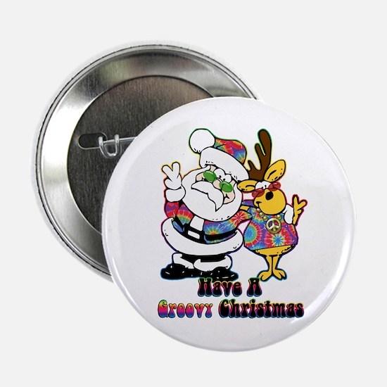 "Groovy Christmas 2.25"" Button"