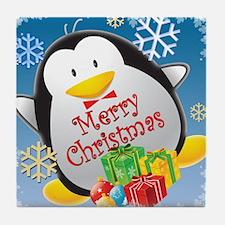 Penguin Christmas Tile Coaster