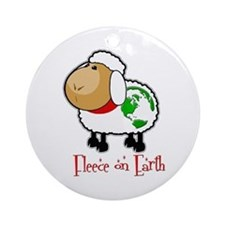Fleece On Earth Ornament (Round)