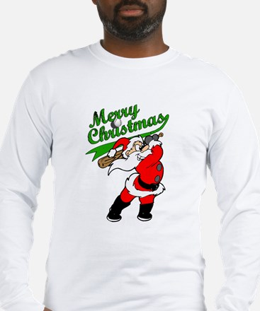 Baseball Christmas Long Sleeve T-Shirt