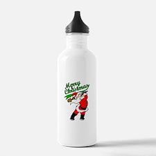 Baseball Christmas Water Bottle