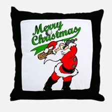 Baseball Christmas Throw Pillow