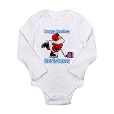 Hockey Christmas Long Sleeve Infant Bodysuit