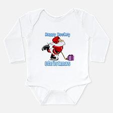 Hockey Christmas Long Sleeve Infant Bodysuit