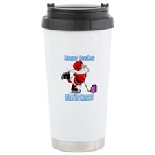 Hockey Christmas Travel Mug