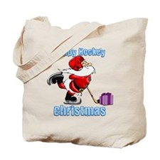 Hockey Christmas Tote Bag