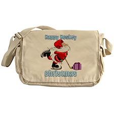 Hockey Christmas Messenger Bag