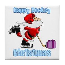 Hockey Christmas Tile Coaster