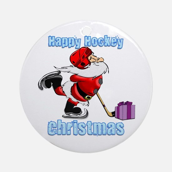 Hockey Christmas Ornament (Round)