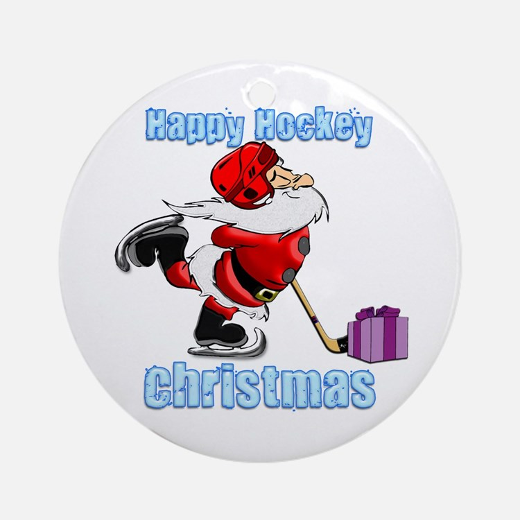Hockey Christmas Ornament (Round)