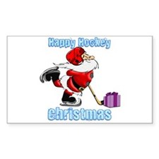 Hockey Christmas Decal