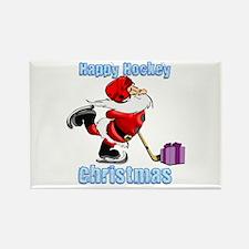 Hockey Christmas Rectangle Magnet