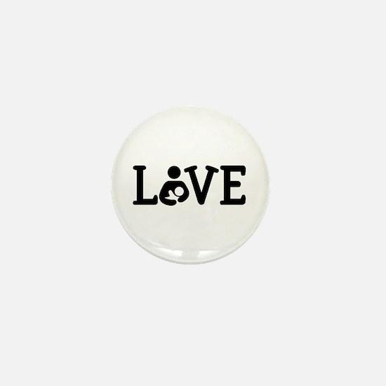 Breastfeeding Love Mini Button