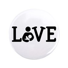 "Breastfeeding Love 3.5"" Button (100 pack)"