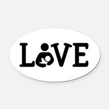 Breastfeeding Love Oval Car Magnet