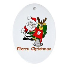 Dentist Christmas Ornament (Oval)