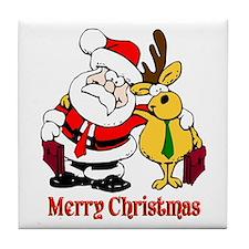 Lawyer Christmas Tile Coaster