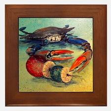 Beach Crab Framed Tile