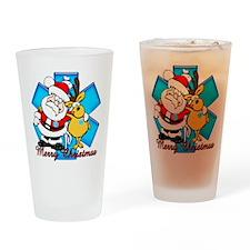 EMT Christmas Drinking Glass