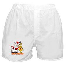 Fireman Christmas Boxer Shorts