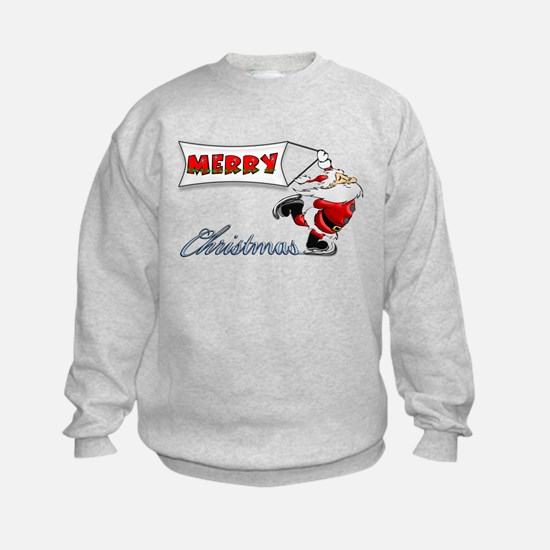 Ice Skating Santa Sweatshirt