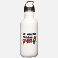 Zombie Christmas Water Bottle