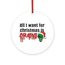 Zombie Christmas Ornament (Round)