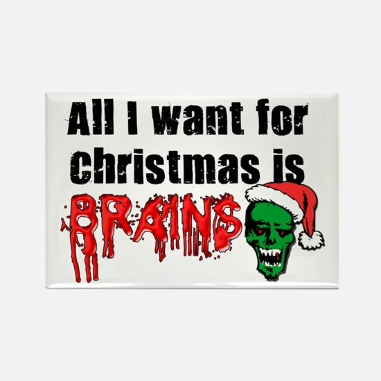 Zombie Christmas Rectangle Magnet