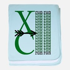 Funny Cross country baby blanket