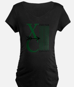 XC Run Dark Green White Maternity T-Shirt
