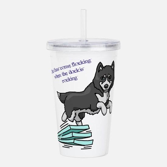 Dock Diving Dog Acrylic Double-wall Tumbler