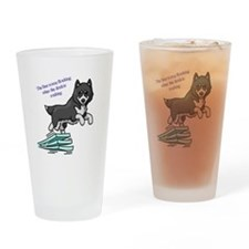 Dock Diving Dog Drinking Glass