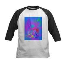 Irregular Forms Light Blue Abstract Baseball Jerse