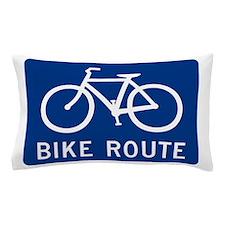 Bike Route Pillow Case