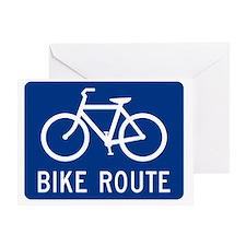 Bike Route Greeting Card