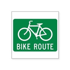 """Bike Route Square Sticker 3"""" x 3"""""""