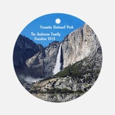 Personalized Yosemite National Ornament (round)