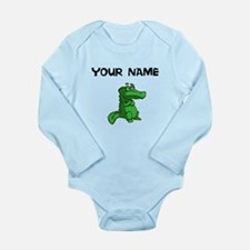 Custom Green Alligator Body Suit