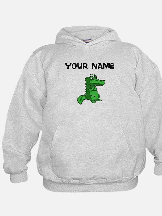 Custom Green Alligator Hoodie