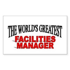 """The World's Greatest Facilities Manager"" Decal"