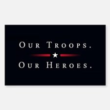 Cute Support our troops Decal