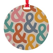 Colorful Ampersands Ornament