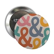 """Colorful Ampersands 2.25"""" Button (10 pack)"""