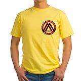 Brazilian jiu jitsu Mens Yellow T-shirts