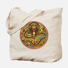 Asian Dragon Motif Tote Bag