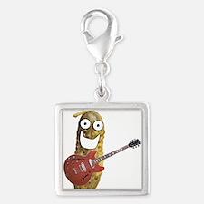 Rocker Pickle Silver Square Charm